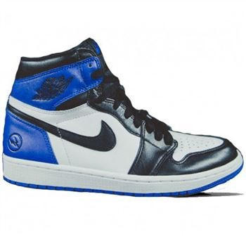 huge discount b4b01 d3b98 716371-040 Air Jordan 1 Retro High OG White Sport Royal-Black