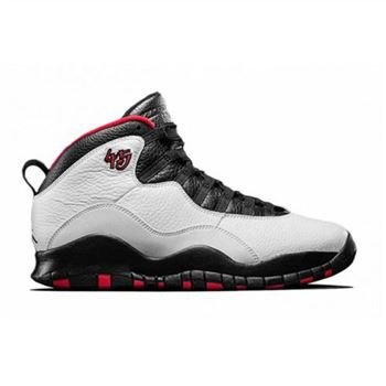 Authentic 310805-102 Air Jordan 10 Retro OG Double Nickel White Varsity Red-Black