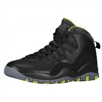 310805-033 Air Jordan 10 Retro Black/Cool Grey-Anthracite-Venom Green For Sale 2014