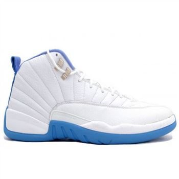 60c6d8d2cddd 136001 142 Air Jordan XII 12 Retro Mens Basketball Shoes Melo White Blue  A12011