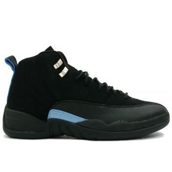 6d00b0854c45 136001-014 Air Jordan XII 12 Retro Mens Basketball Shoes Nubuck Black Blue  A12008