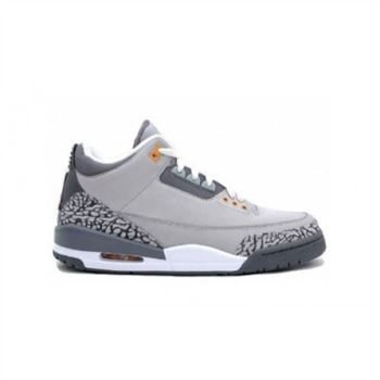 315297-062 Air Jordan Retro 3 Cool Grey Light Grey Silver Sport Red Orange Peel A03011