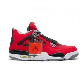 308497-603 Air Jordan Retro 4 Toro Bravo Fire Red/White-Black-Cement Grey (Women Men Gs Girls) Free Shipping