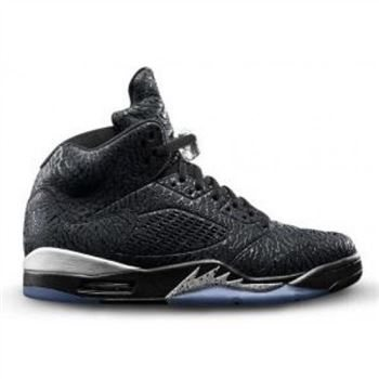 Authentic 599581-003 Air Jordan 5 Retro 3Lab5 Black/Black-Metallic Silver