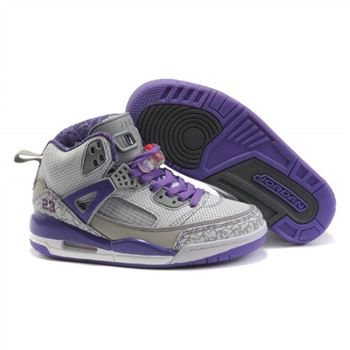 Jordan Spizike Women Basketball Shoes white grey purple A24045